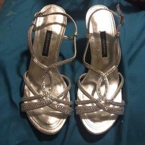 Size 5 silver heels